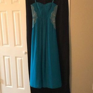Gorgeous Teal Strapless Dress, BCBGMaxAzria, Sz 10